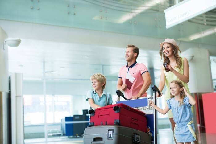 family on airport